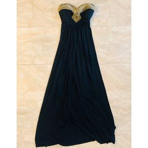 Bebe Strapless Maxi Dress
